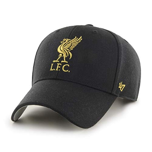 '47Brand Gorra de béisbol EPL Liverpool FC LFC con logo metálico, color...