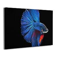 Skydoor J パネル ポスターフレーム 金魚 青い インテリア アートフレーム 額 モダン 壁掛けポスタ アート 壁アート 壁掛け絵画 装飾画 かべ飾り 30×20