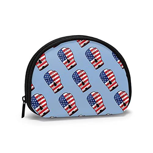 Münzgeldbörse mit USA-Flagge, Boxhandschuh, Mini-Geldbörse mit Reißverschluss, für Damen und Mädchen