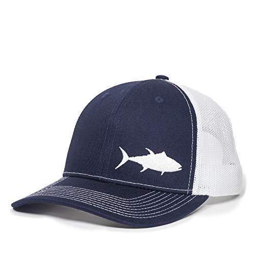 Fish Silhouettes Trucker Hat - Adjustable Baseball Cap w/Snapback Closure