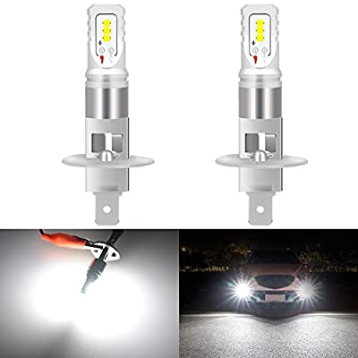KaTur H1 Led Fog Light Bulb Max 80W High Power CSP Chips Extremely Bright 1600 Lumens 6500K Xenon White Replace for Fog Light or Daytime Running Light DRL,Pack of 2
