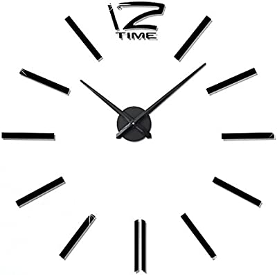 CLG-FLY Modern Color Silent Wall Clock for Home Wall Decor, Digital Non Ticking
