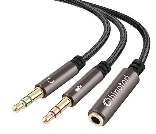 Headphone Splitter Adapter 3.5mm Aux Audio Splitter for Computer,...