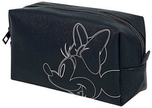 Mickey & Minnie Mouse Minnie Mouse Unisexe Trousse à cosmétiques Noir/Blanc, 100% Polyester,