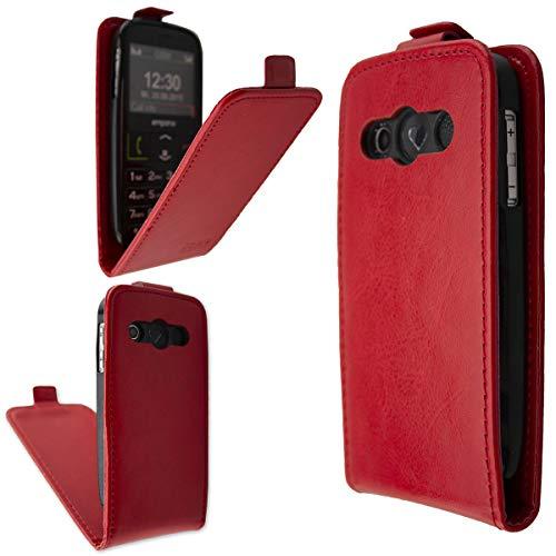 caseroxx Flip Cover für Emporia V50, Tasche (Flip Cover, Hülle) (Flip-Cover, rot)