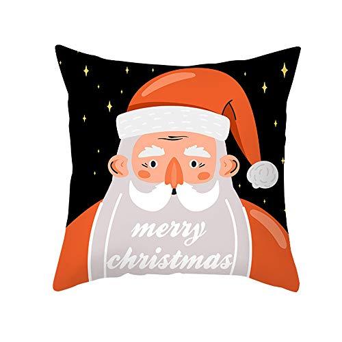 DuangDuang - Funda de almohada de Navidad para sofá de oficina