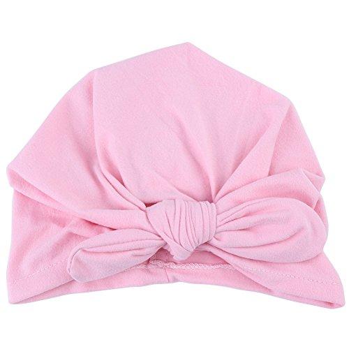 Laisla fashion Sombrero del Bebé Infantil Suave Arco Clásico De La Venda De Algodón Elástico Nudo Turbante Turbante Estilo Básico Accesorios Ropa De Segunda Mano (Color : Rosa, One Size : One Size)