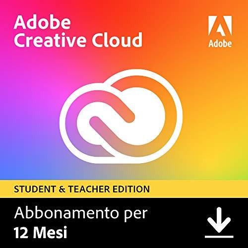 Adobe Creative Cloud | Student & Teacher | 1 Anno | PC/Mac | Codice d'attivazione via email