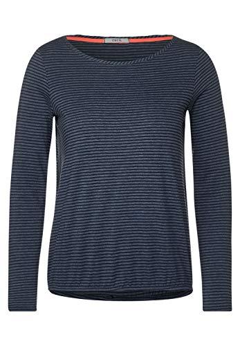Cecil Damen Langarmshirt mit Streifen deep Blue S