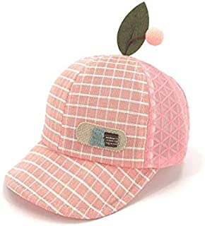 Baby Decoration Hat Kids Lattice Mesh Cap Baby Breathable Baseball Cap Outdoor Sun Protection Hat for 5-30 Months Cute Cap (Color : Pink, Size : 48cm)