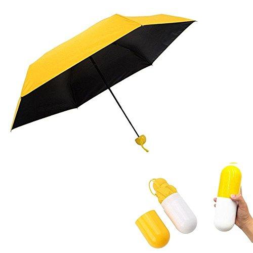 Paraguas de viaje amarillo muy ligero