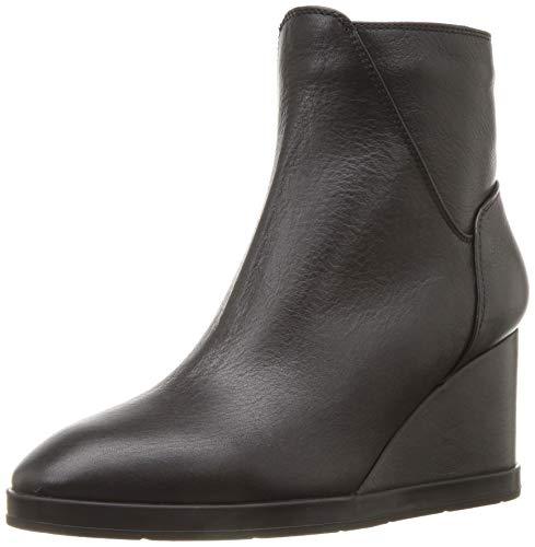 Aquatalia Judy Tumbled Calf Ankle Boot, Black, 11 M US