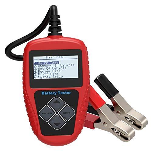 IPOTCH Vehículo Profesional BA101 12V Herramienta de probador de batería automotriz analizador Digital, Rango de Prueba DIN 100-1000 - La versión Europea