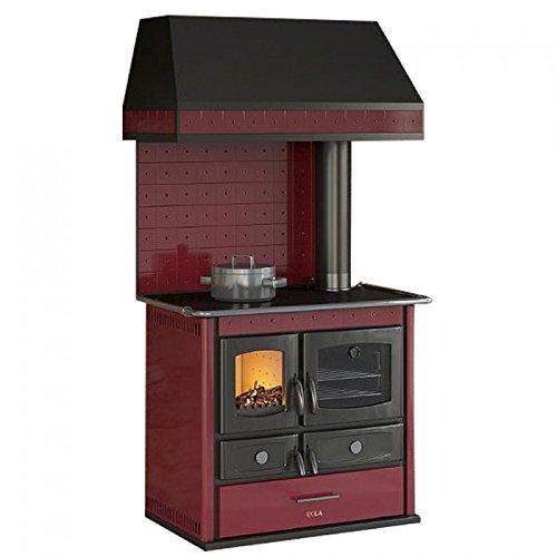 Termocucina cucina a legna KW 14,9 HelenaRusticAnselmo Cola Bordeaux