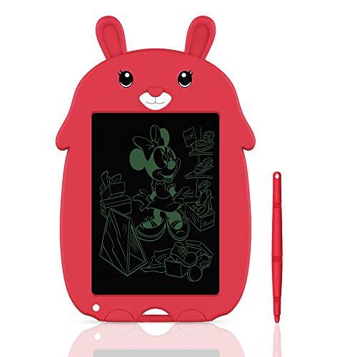 Tableta de Escritura LCD Tablero de Escritura y Dibujo Electrónico de 8,5 Pulgadas- Regalo para Niños (Red)