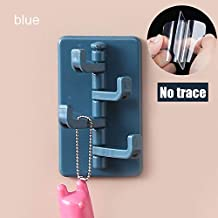 Aminery Clothes Stand Holder ABS Creative Organ Hook Kitchen Wall Hanging Nail-free Door Hanger Bathroom Wall Seamless Hook 2Pcs (Style D, Yellow) (Style D, Midnight Blue)
