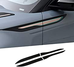 CHEYA ABS Side Door Fender Air Vent Outlet Trim for Land Rover Range Rover Evoque 2020 (Gloss Black)