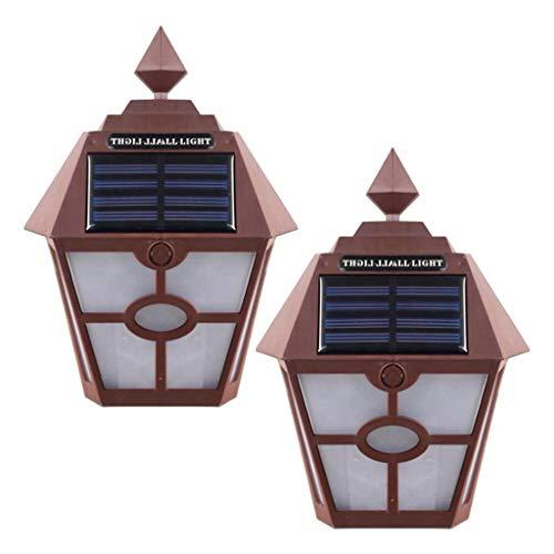 H HILABEE 2x Vintage Dusk To Dawn Sensor Exterior Linterna Aplique de Pared Lámpara de Porche