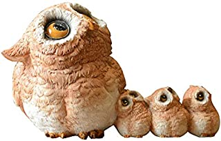 Gemmia Garden Owl Figurine- Queuing Family Owl Fairy Statue