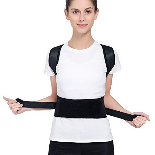 KuKiMa Rücken Haltungskorrektur Schulter Bandage, Atmungsaktiv Rückenbandage Rückentrainer Verstellbar Geradehalter Posture Corrector für Damen, Herren,Kind