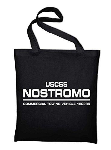 USCSS Nostromo Alien Weyland Corp Jutebeutel Baumwolltasche, schwarz