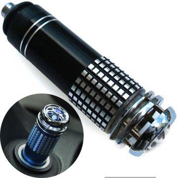 CGOLDENWALL - Purificador de aire para coche, conexión a la toma del encendedor, parar generar iones negativos y ozono y eliminar humo, olor, polvo y bacterias