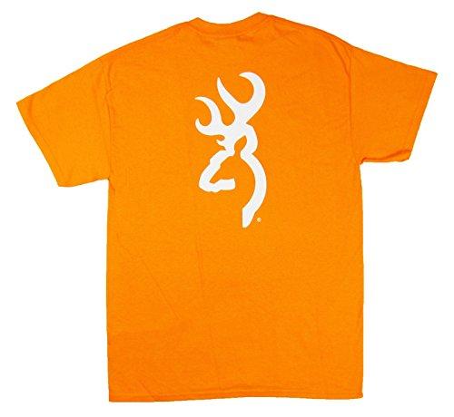 Browning Tennessee Orange White Buckmark Tee Short Sleeve T-Shirt (Medium)