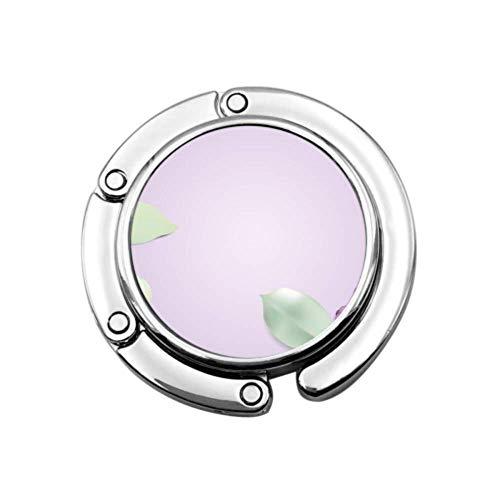Primavera romántica dulce flor lila bolsa de mesa percha bolsos titular para mesa diseños únicos plegable sección almacenamiento mesa gancho