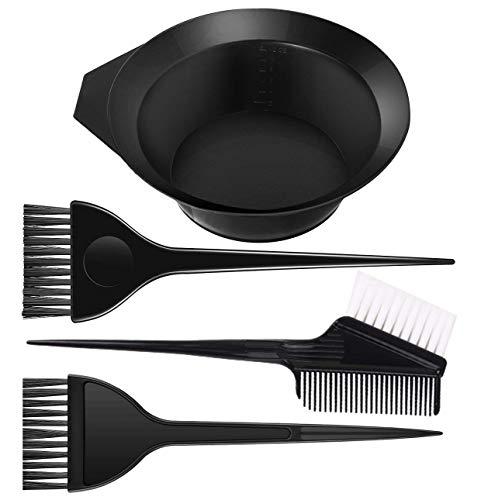 Haare Färben Set 4 teiliges Haarfärbeset Salon Tool mit Haarfärbepinsel Färbeschale Haarfärbemittel, DIY, Schönheitssalon-Werkzeug