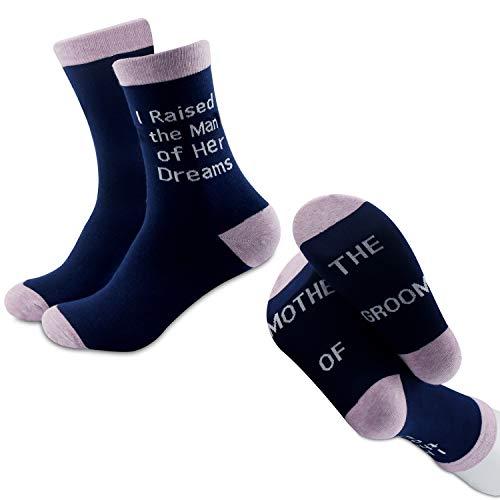 MYSOMY Calcetines de madrina de la novia calcetines madre del novio regalos de boda regalos