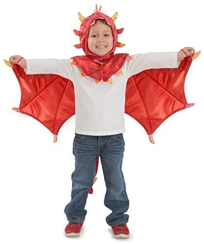 Princess Paradise Hooded Liam Dragon Child's Costume, Small/Medium, Red (4769S_M)