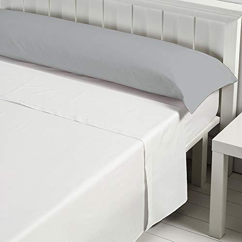 Barceló Hogar 03010070327 Funda de almohada basic, poliéster/algodón, perla, 105 cm
