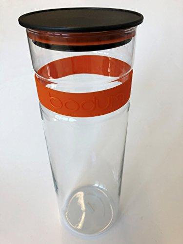 .Bodum Presso Barattolo in vetro (aria Poeta silicone chiusura, forno a microonde/lavabile in lavastoviglie, 1,9liters) Arancione