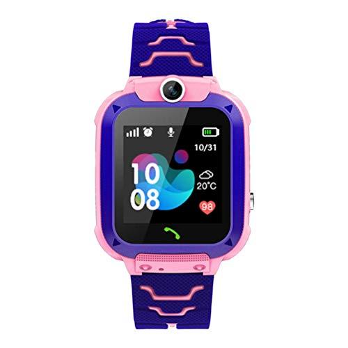Hemobllo Kinder Smart Watch für wasserdichte Kinder Digital Armbanduhr Telefon mit GPS Tracker Wecker Spiele Voice Chat Smartwatch für Mädchen Geschenk für Kinder Junge Mädchen Student Pink