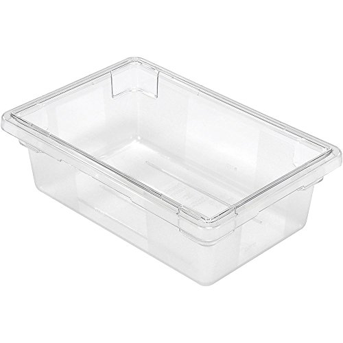 "RUBBERMAID Tote Box - 18x12x6"" - Polyethylene - Clear - Lot of 6 -  FG330900CLR"