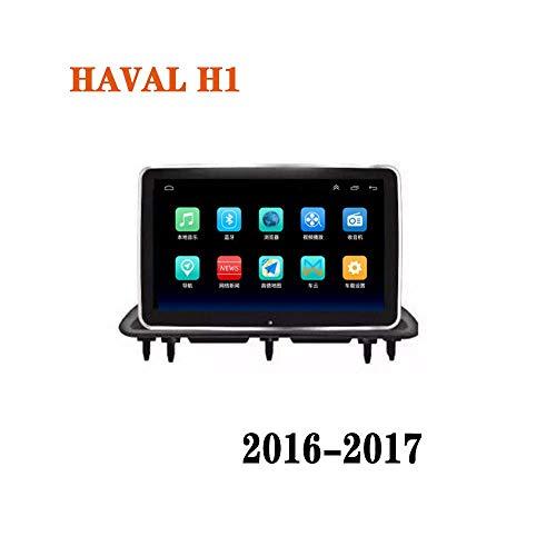 Hahaiyu 9-Zoll-Autoradio-Stereo Navigator Android 8.1 in Dash für HAVAL H1 (2016-2017), Radio 2.5D Touch Screen, Wireless-LAN, Bluetooth, Spiegel-Link (1G + 16G)