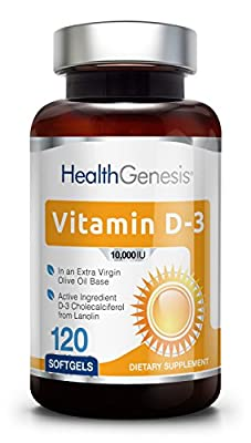 *Flash Sale* Vitamin D3 10000 IU 120 Softgels - High-Potency | Non-GMO | Soy-Free | in Extra Virgin Olive Oil | Strong Bones | Immune Health | Support for K-2