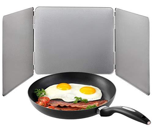 Protector anti-salpicaduras de cocina | Apto para el lavavajillas | TRES elementos cada uno 25 x 23 cm | Metal