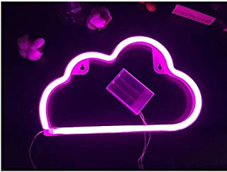 Beauenty Cute Blue Neon Light,LED Cloud Sign Shaped Decor Light,Marquee Signs/Wall Decor for Christmas,Birthday Party,Kids...