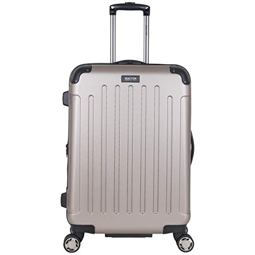 "Kenneth Cole Reaction Renegade 24"" Lightweight Hardside Expandable 8-Wheel Spinner Checked-Size Luggage, Champagne, inch"