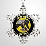 BYRON HOYLE Adornos de Navidad de rama de árbol de la decoración amarillos de miel tejones Dont Care Navidad Navidad copo de nieve adornos de Navidad Decoración de boda adorno regalo de vacaciones