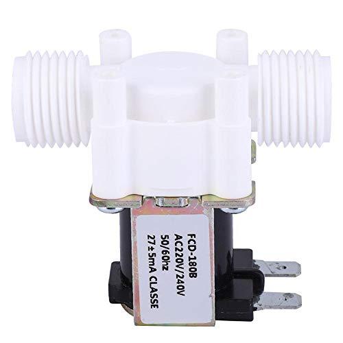G1/2 pulgada Válvula solenoide eléctrica normalmente cerrado de plástico de entrada de...