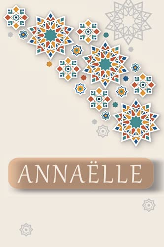 ANNAËLLE: Personalized Name Journal for ANNAËLLE, Cute Lined Notebook with Pink flower, Black Cover, notebook Blank Lined Writing Pages Journal with Personalized Name 6x9, 110 pages