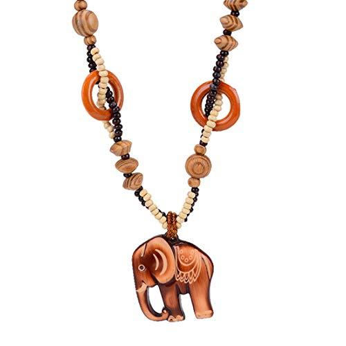 De enige goede kwaliteit Koreaanse versie Mode Accessoires zoete Chanel stijl hout Lange ketting kleding Baby olifant hanger Vrouw Ophangornament 3 sets