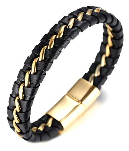 Halukakah ● Honneur ● Homme Bracelet en Cuir Véritable...