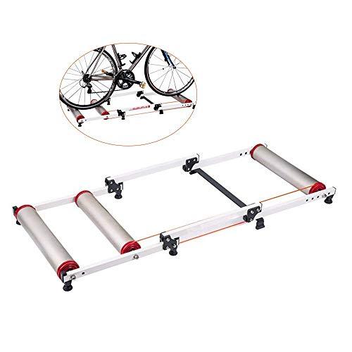 WYJW Gimnasio Interior Ajustable Ciclismo Rodillo parabólico Entrenador de Bicicletas Ejercicio Fitness Marco Fijo para Bicicletas de montaña y Carretera - -