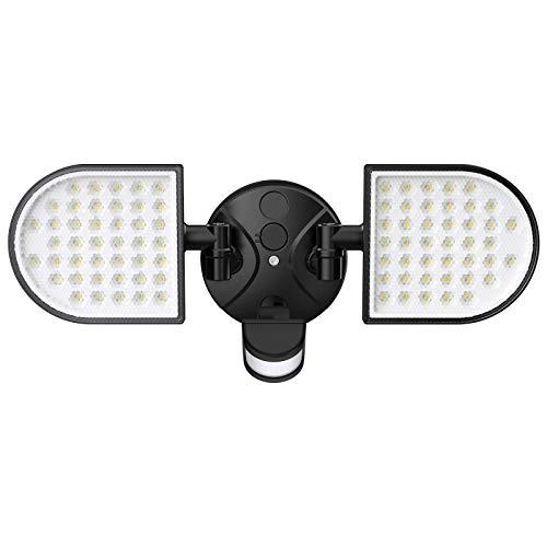 iMaihom 50W LED Sicherheitsleuchte mit Bewegungsmelder, 4500lm Superhell Außenstrahler mit 2 Köpfe, IP65 Wasserdicht Außen Fluter, LED Strahler, 6000K Kaltweiß Flutlicht für Garten, Garage, Hof