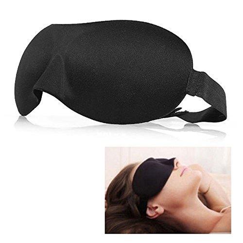 EROSPA® 3D Premium Schlafmaske Augen-Maske Augen-Abdeckung Augenklappe Frauen Männer Kinder Weich Reise Auto Unterwegs Camping Strand - Augen frei beweglich - Anatomisch - bequemer erholsamer Schlaf