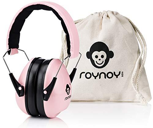 roynoy   Gehörschutz Kinder und Baby   ab 2 Jahre   Ohrenschutz Kinder   Ohrenschützer   Lärmschutz Baby   Lärmschutzkopfhörer Kinder (rosa)