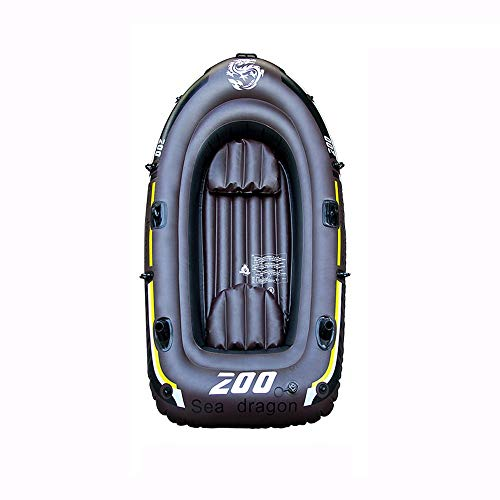 BOOA Professionelles doppeltes Fischerboot-Safe-verschleißfestes aufblasbares Boot, einschließlich Paddel und Pumpe, mit Einer Tragfähigkeit von 150kg, Schlauchboot-Abmessungen 190 * 98Cm